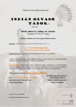 Indián olvasó tábor Tarhoson