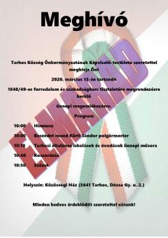 Tájékoztatás a március 15-i ünnepség elmaradásáról